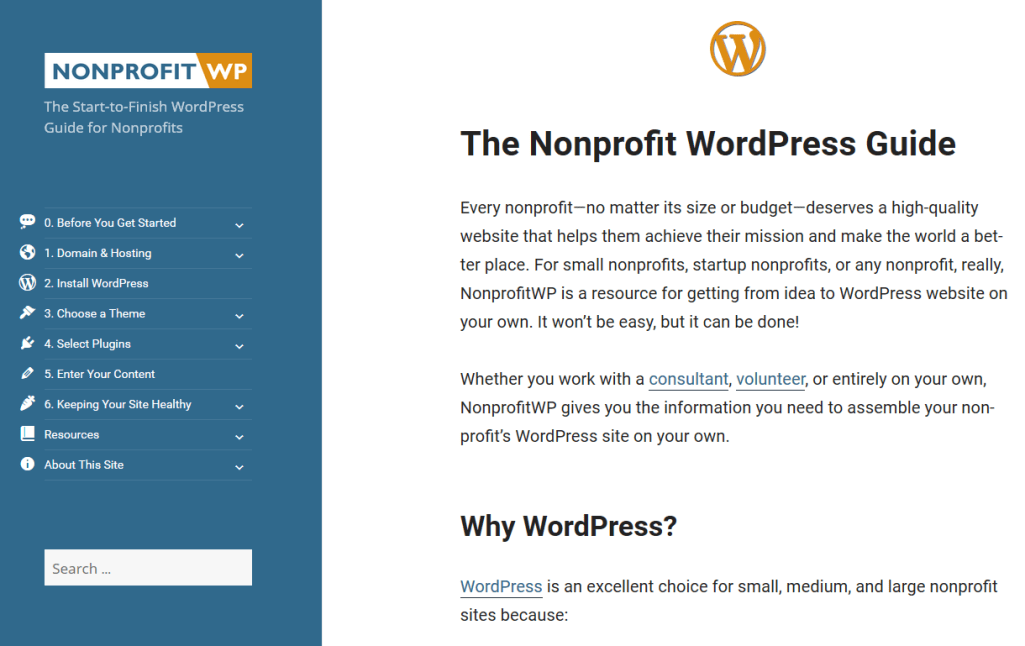 Front Page to Nonprofit WordPress Guide