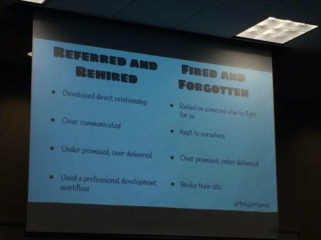 A Slide from Kyle Maurer's Presentation
