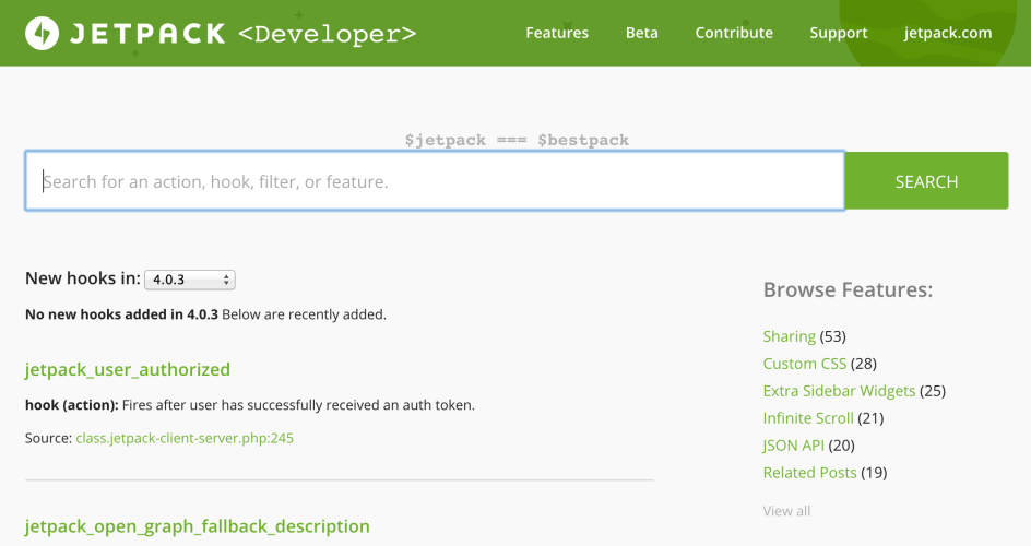 Jetpack Launches New Developer Code Reference