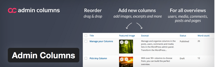 Easily Add, Remove, and Rearrange Columns With The Admin Columns Plugin
