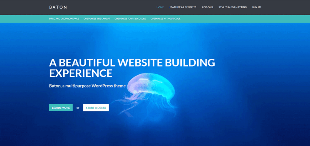 Baton: A Free WordPress Business Theme with a Homepage Layout Builder in the Customizer