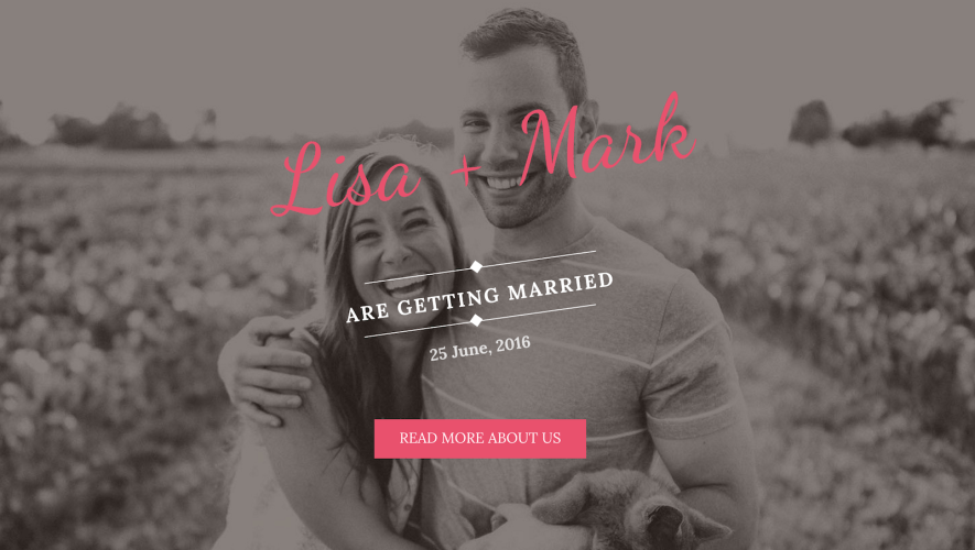 Wedding Bride: A Free One-Page WordPress Wedding Theme