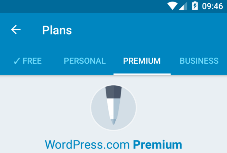 WordPress for Android 5.7 Adds Path to Upgrade WordPress.com Plan