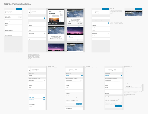 Customizer Theme Browser Flow