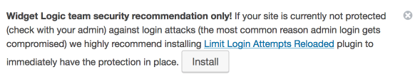 Limit Login Attempts Reloaded Admin Notice