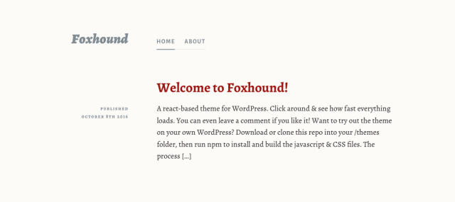 Foxhound Is the First REST API Powered Theme on WordPress.org ...