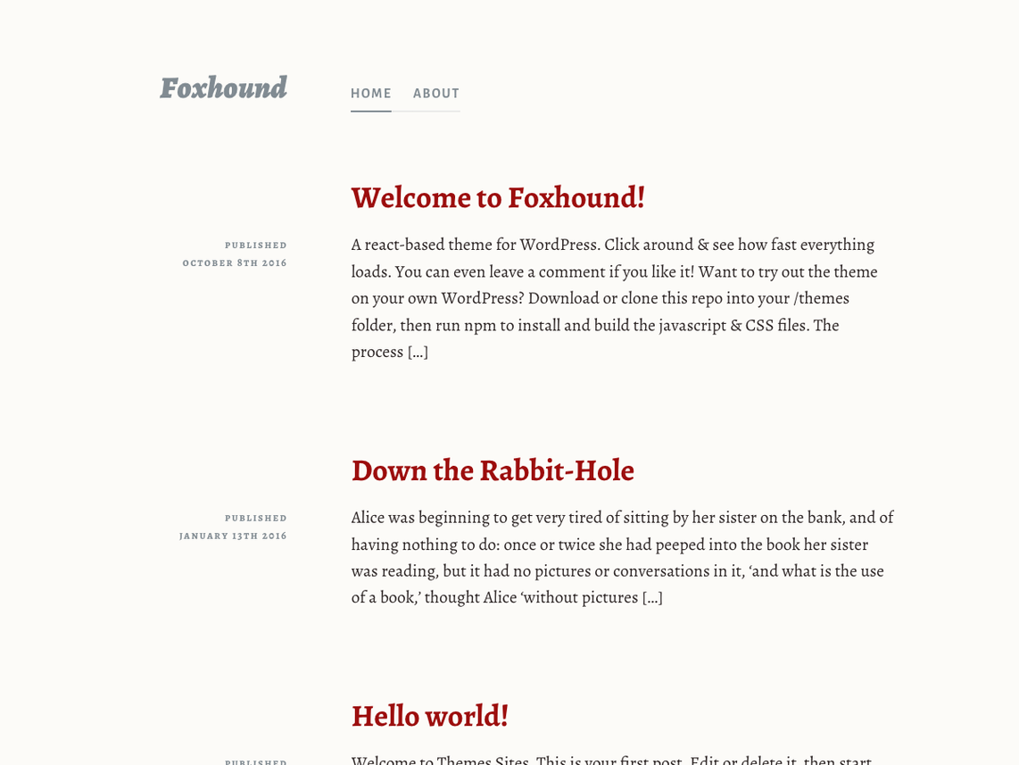 Foxhound Is the First REST API Powered Theme on WordPress