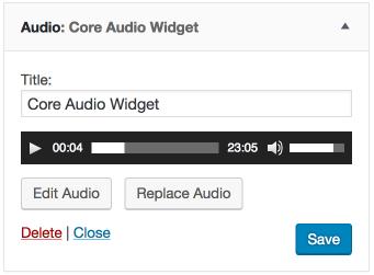 Core Audio Widget