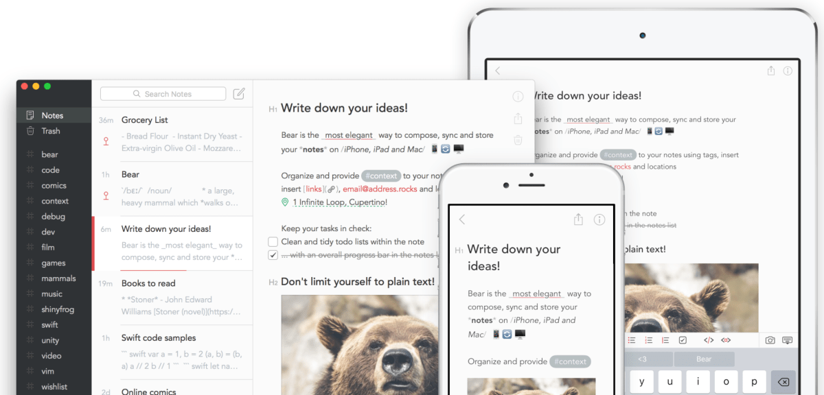 Bear App Users Want WordPress Publishing Integration