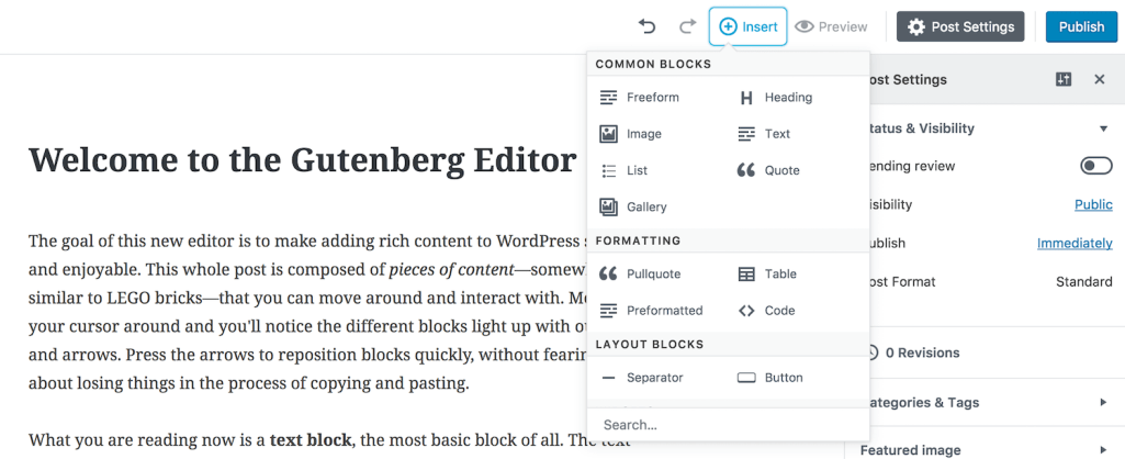 WordPress' New Gutenberg Editor Now Available as a Plugin for Testing