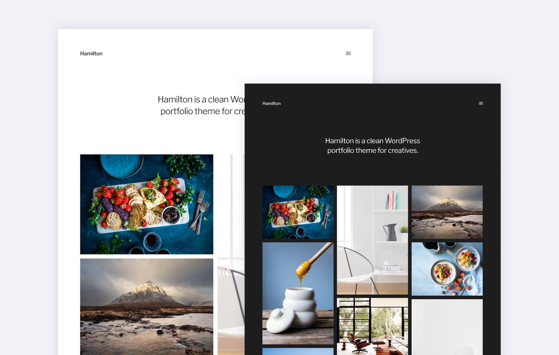 Hamilton A Free Wordpress Portfolio Theme For Photographers