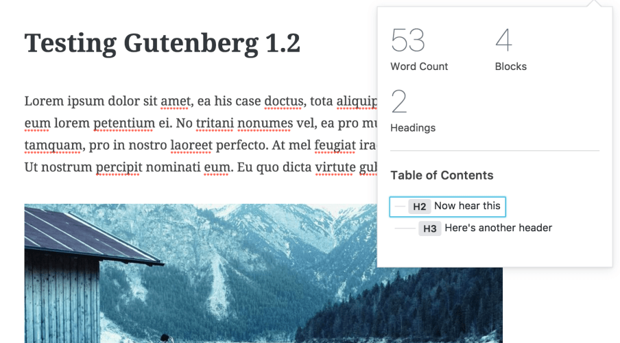 Gutenberg 1.2 Adds Postmeta Support and Extended Settings Placeholder