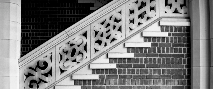 Stairs rising from left to right