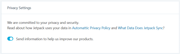 JetpackPrivacySettings Jetpack 6.0 Takes Steps Towards GDPR Compliance design tips