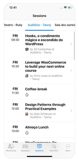 SessionTimelines Marcel Schmitz Releases Unofficial WordCamp for iOS App design tips