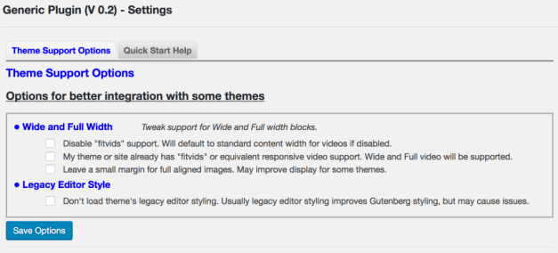 ThemeSupportOptions Plugin Review: Theme Support for Gutenberg design tips