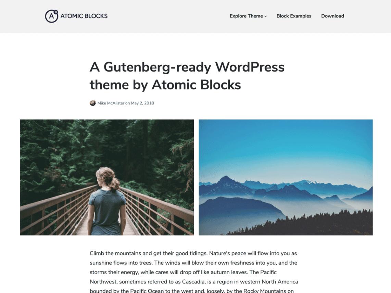 Array Launches Free Gutenberg-Ready Atomic Blocks Theme on WordPress