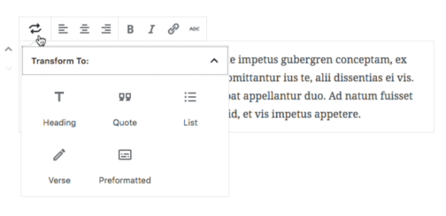 Change Bock Types Icon in Gutenberg