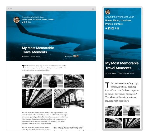 TwentyNineteenBlogPostLayout First Look at The Twenty Nineteen Default Theme design tips