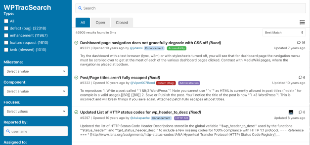 Screen-Shot-2019-05-10-at-3.01.51-PM WPTracSearch: An Elasticsearch-Powered Search Interface for WordPress Trac Tickets design tips  News|WordPress|elasticsearch|trac