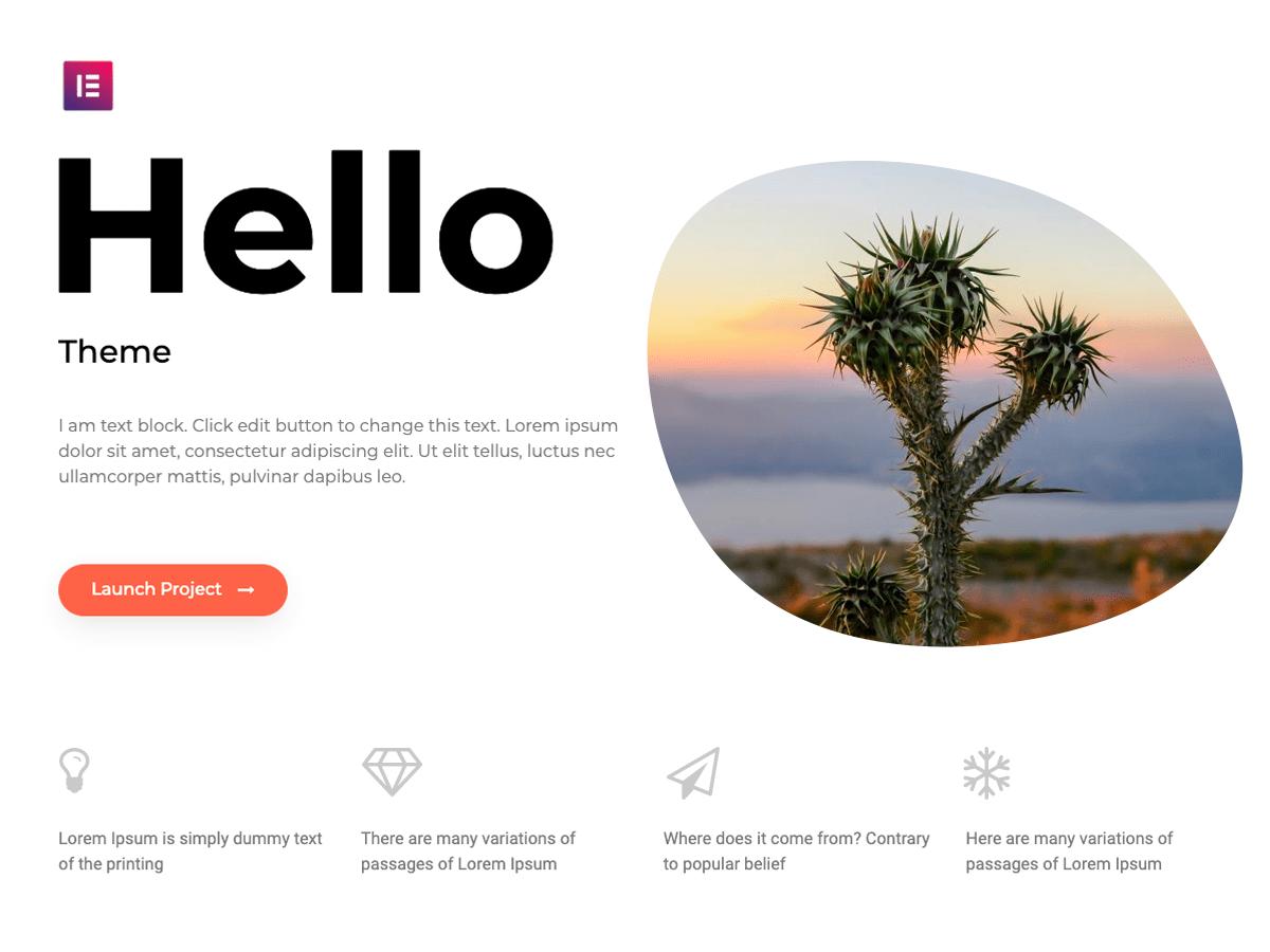 Elementor Launches Hello Theme on WordPress.org
