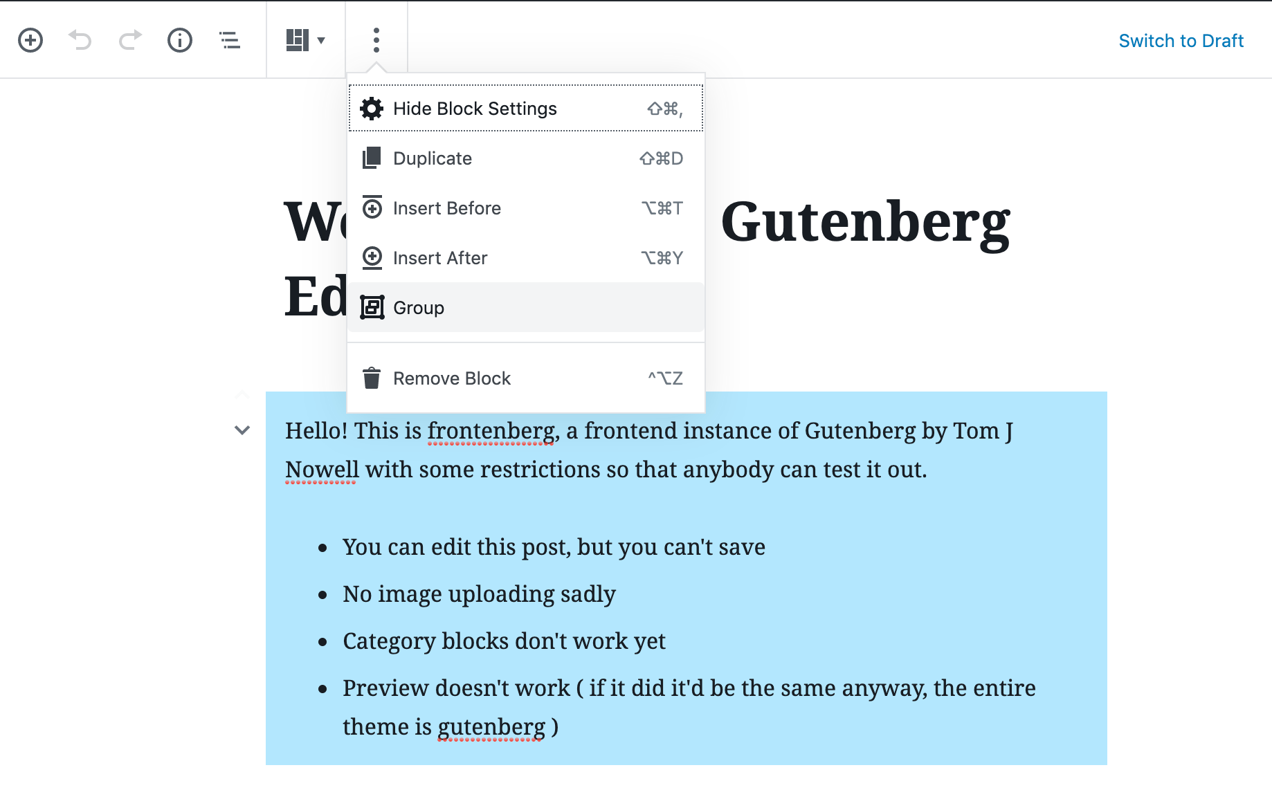 Gutenberg 5.9 Brings Major Improvements to Block Grouping, Introduces Snackbar Notices