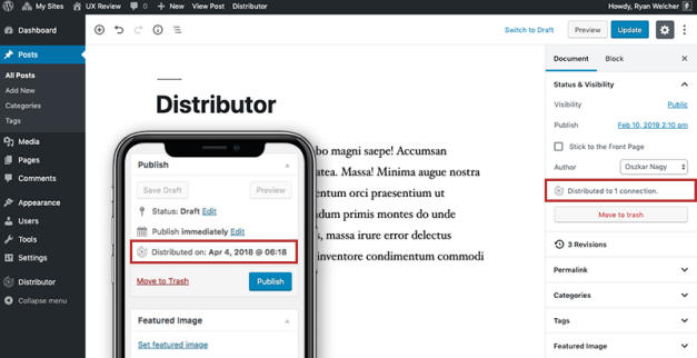 distributor-slotfill-example-classic-editor-block-editor 10up Releases New Plugin That Shows How to Extend Gutenberg's Document Panel Using SlotFill and Filters design tips  Plugins|10up|gutenberg|slotfill