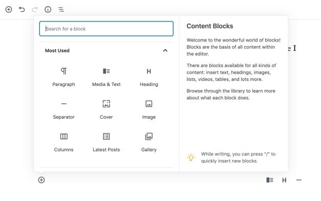 Screen-Shot-2019-08-29-at-2.01.21-PM Gutenberg 6.4 Adds New Typewriter Experience, Cover Block Resizing, and Block Inserter Help Panel design tips  News|gutenberg