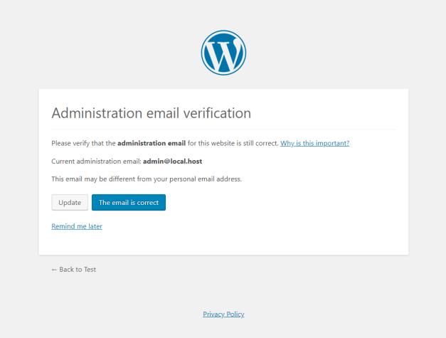 admin-email-verification WordPress 5.3 to Introduce New Admin Email Verification Screen design tips  News|WordPress
