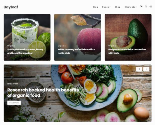 Bayleaf: A Food and Recipe Blog Theme