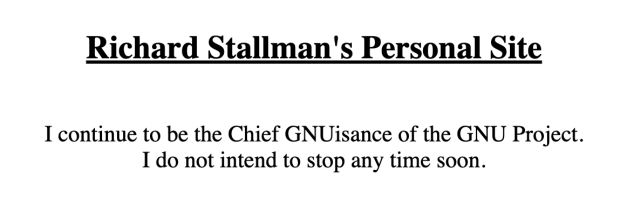 GNU Project Maintainers Move to Oust Richard Stallman from Leadership