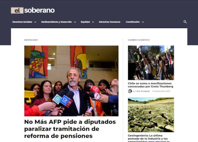 Chilean News Publication El Soberano First to Launch on Newspack