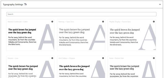 Screenshot of the Typography Settings tab on the EditorsKit settings screen.