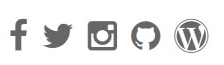 An image describing how social icons are lined up next to each other in the Social menu