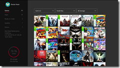 Xbox Dashboard Showcasing Games Collection