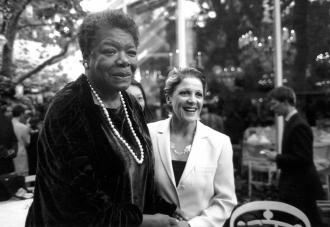 20th Anniversary Benefit 1998_Maya Angelou and Linda Lavin-1