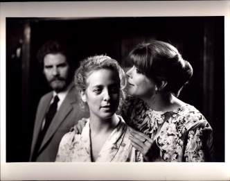 B.J. Jones (background), Kelly Coffield, Kate Buddeke in MILL FIRE (1989)