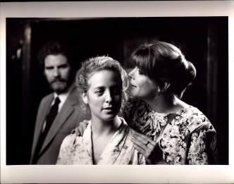 B.J. Jones (background), Kelly Coffield, Kate Buddeke in MILL FIRE (1989)