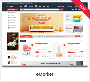 eMarket - WooCommerce WordPress theme for the e-commerce and multipurpose market