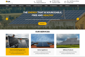Urja Solar Energy By luzuk Themes