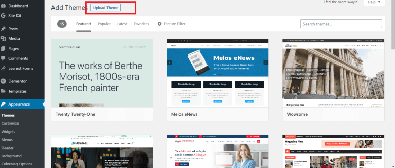 how to install wordpress theme from zip