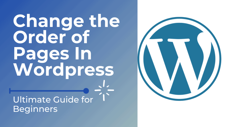 Order of Pages In WordPress