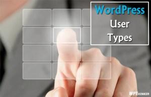 wordpress-user-types