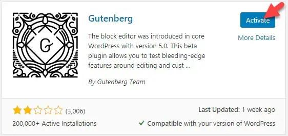 Activate Plugin in WordPress