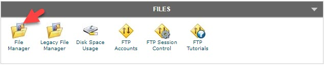 Files Section cPanel