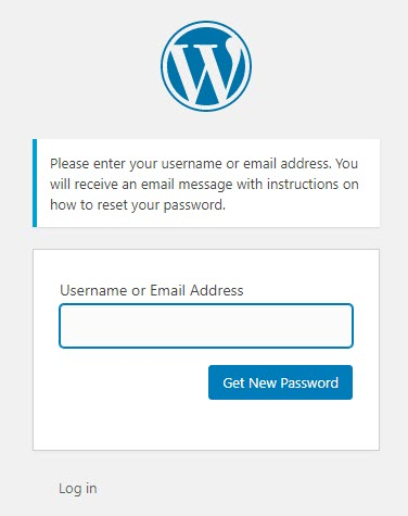 WordPress Reset Password with Email Page