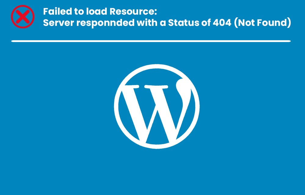 Failed to Load Resource WordPress