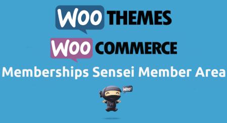 Woocommerce Memberships Sensei Member Area
