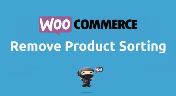 Woocommerce Remove Product Sorting
