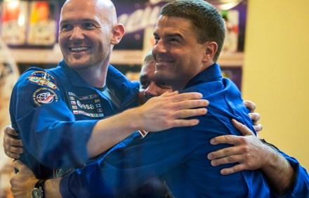 Hugs not war… in space!